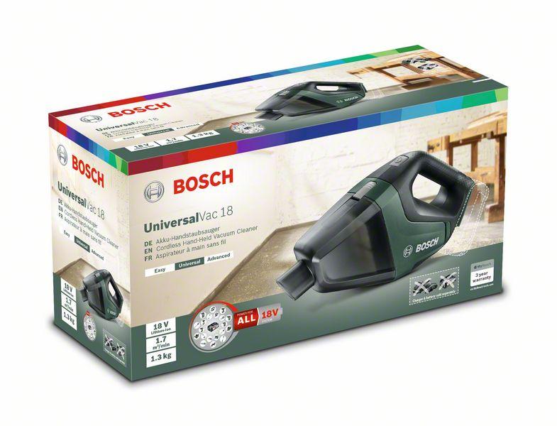 Bosch UniversalVac 18 Akkus kézi porszívó